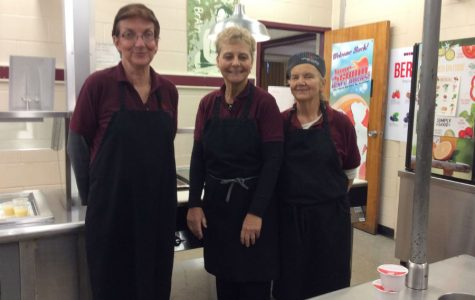 Lunch ladies whip up sapid and savory meals for ravenous students.