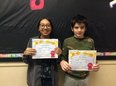 8th grade November students of the month surprising many peers