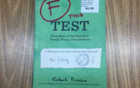 Richard Benson presents humor in comical book F This Test