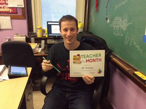 Mr. Eubanks achieves the February teacher of the month award