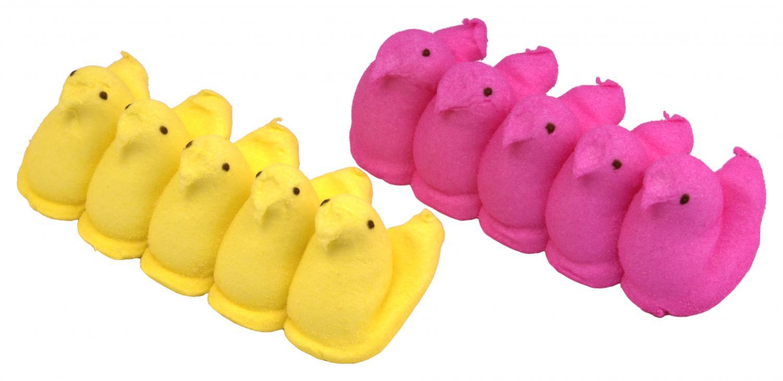 photo via; https://commons.wikimedia.org/wiki/File:Peeps-Yellow-Pink.jpg