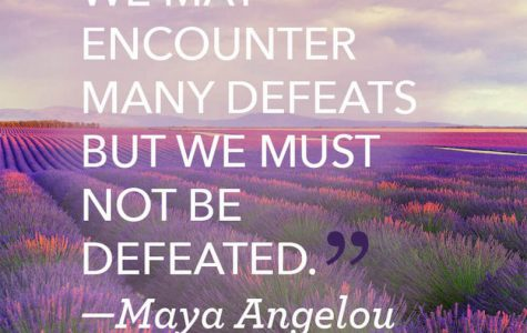 Inspiration from Maya Angelou