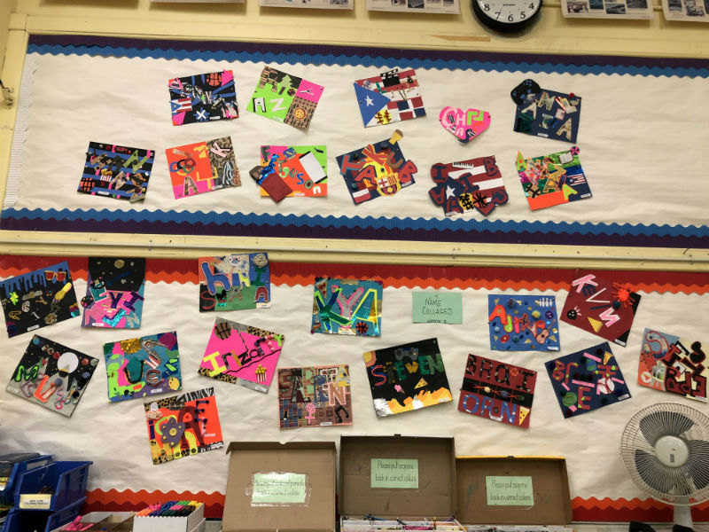 PICASSO+WHO%3F%3A+6th+and+8th+graders+finished+their+marvelous+art+collages.