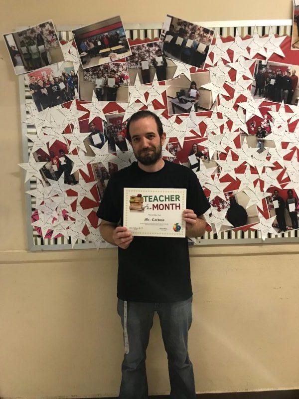 Mr. Cardoso wins the May 8th grade TOTM award!