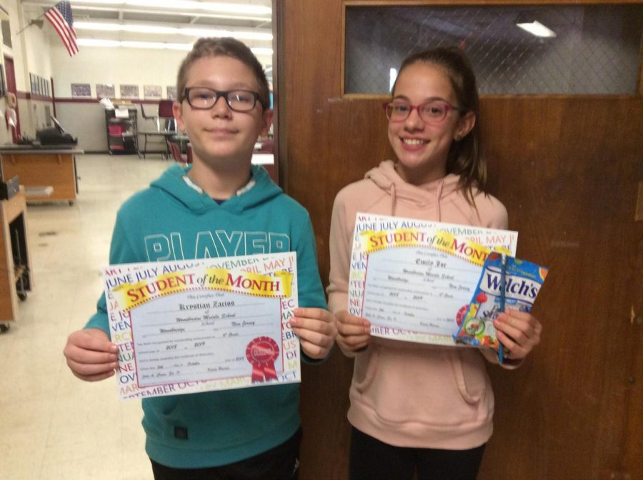 6th grade students of the month.