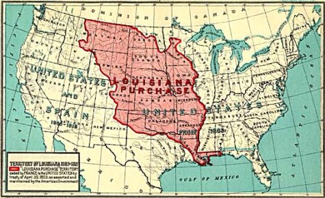 The United States buys land west of The Mississippi River for 15 million-11/29/1803