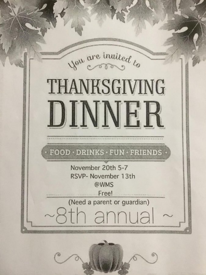 Come to our Thanksgiving Dinner for lots of fun!