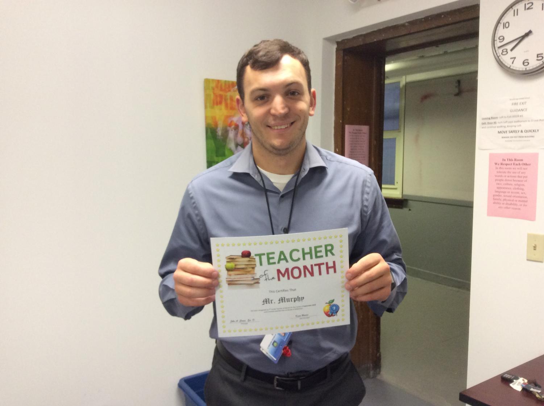 Mr.Murphy wins Teacher of the Month