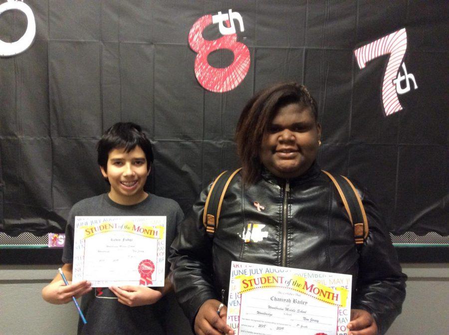 8th grade students of October show the true Warrior spirit!
