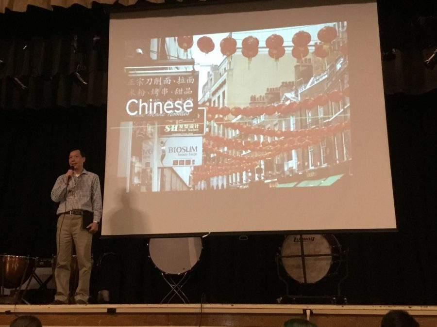 WMS+Chinese+teacher%2C+Mr.Liu%2C+introduces+the+assembly+to+students