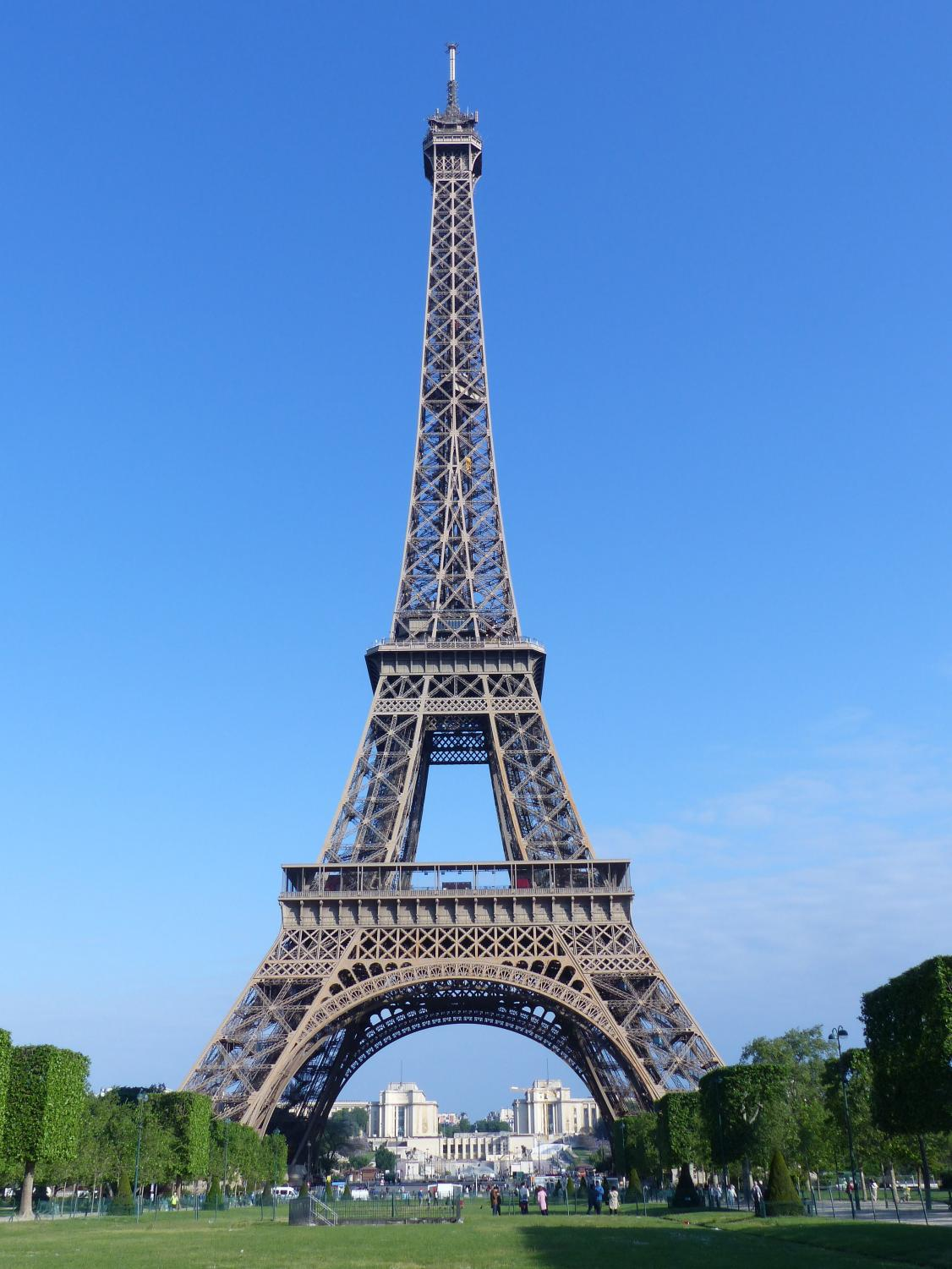 Photo via https://commons.m.wikimedia.org/wiki/File:The_Eiffel_Tower_seen_from_Champ_de_Mars.jpg Under the Creative Commons License