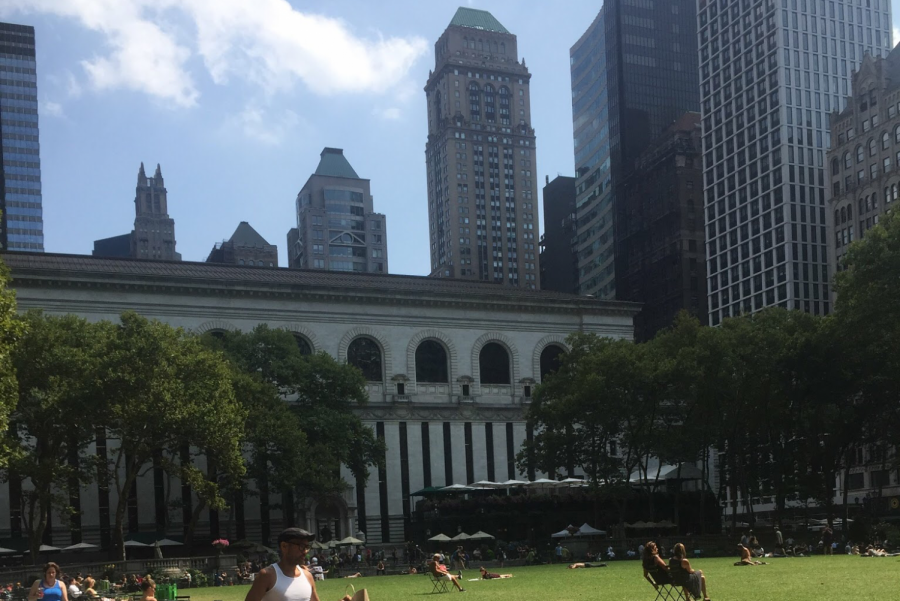 A beautiful day in Bryant Park