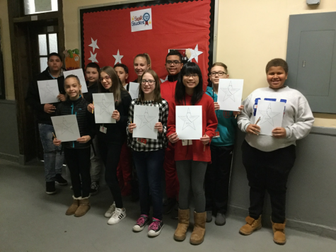 7th grade Students of the Month recognized for hard work