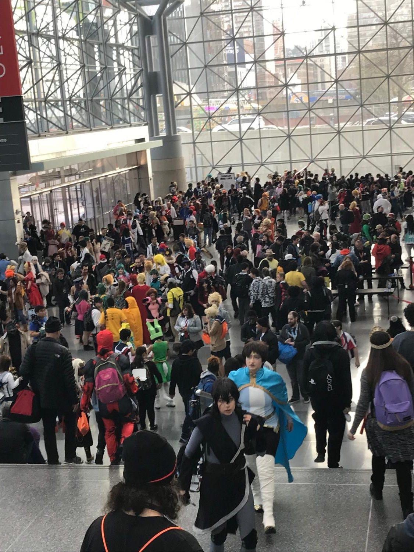 Anime NYC crowd