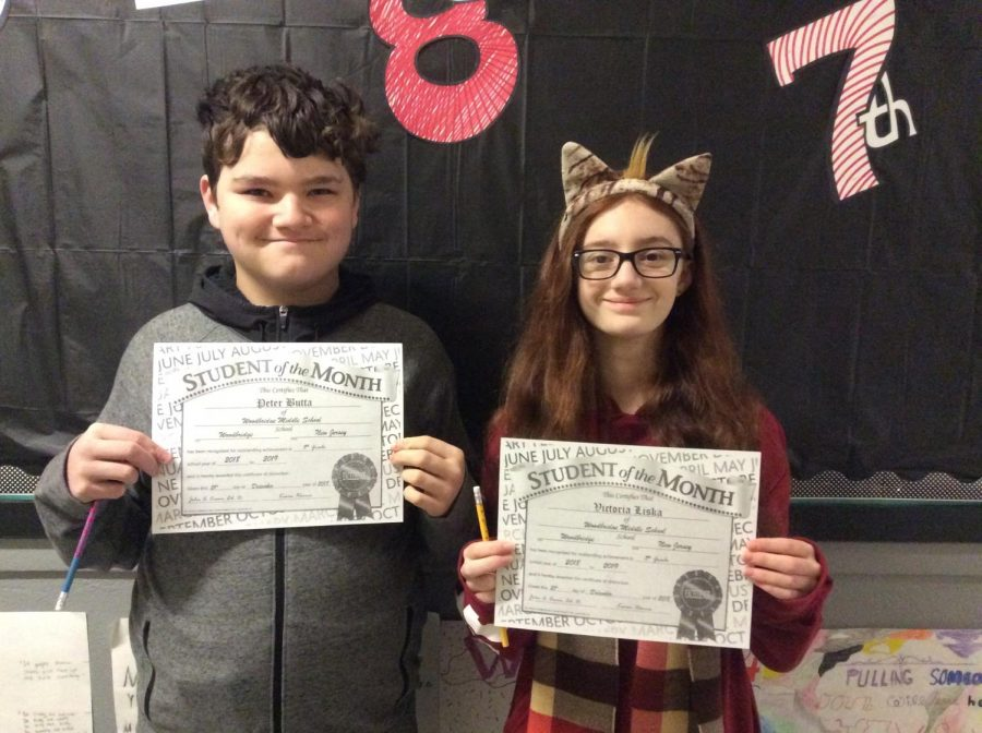 6th, 7th, and 8th Grade WMS Students of the Month of December  earn the recognition they deserve.