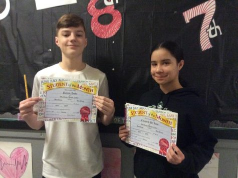 Serious 6th Grade Students Win September Student Of The Month