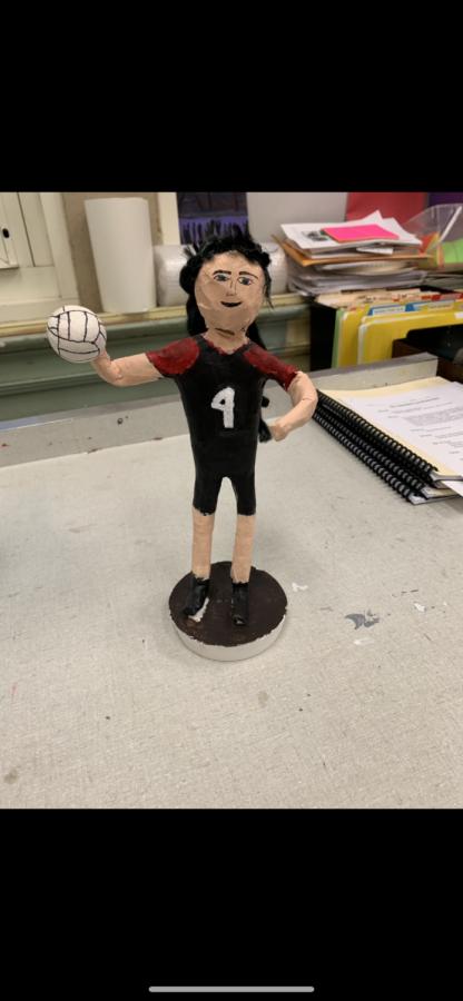 Soccer Sculpture by Victoria Olsen