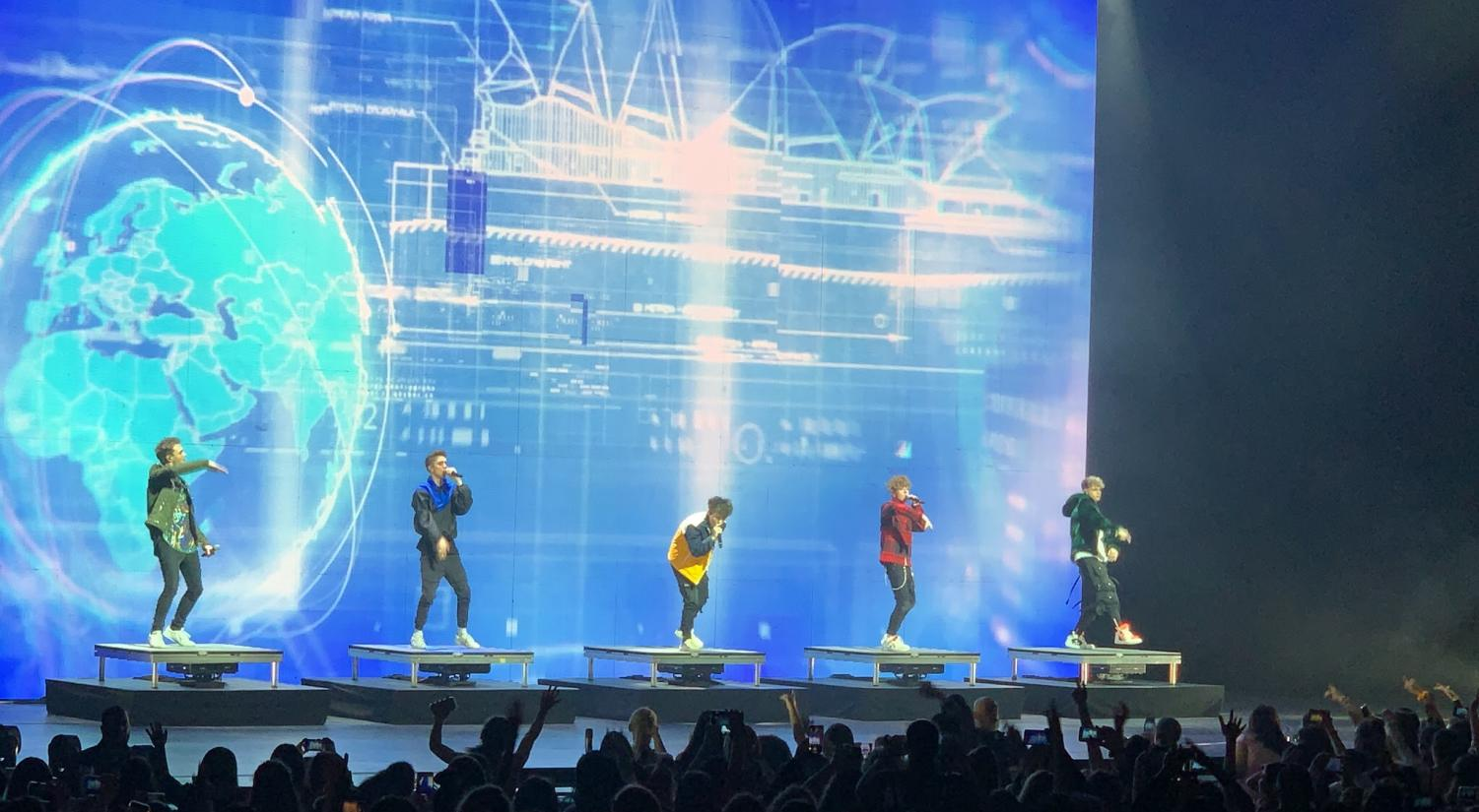 Why Don't We singing 'Big Plans' on the Radio City Music Hall stage.