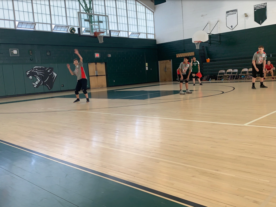 WMS boys volleyball team spikes out their competition