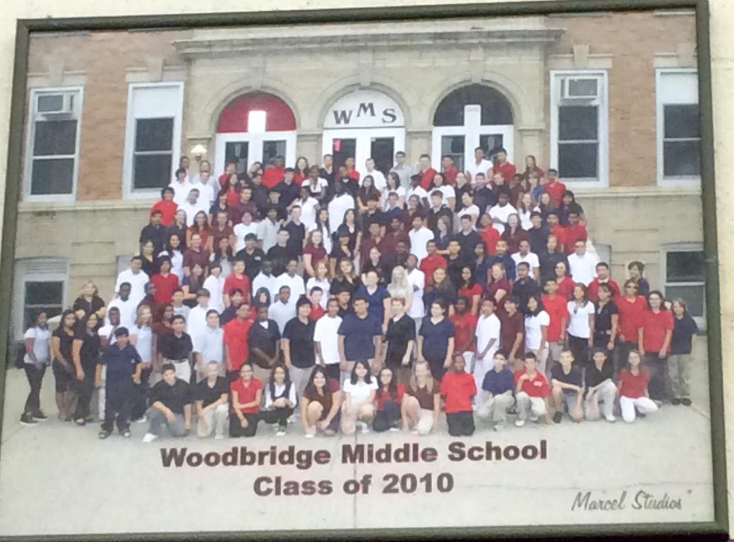 WMS class of 2010 in their school uniforms.