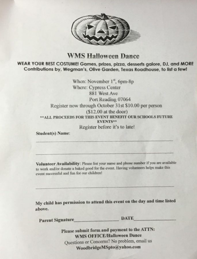 WMS hosts Halloween Dance at Cypress Center on Friday, 11/1/19