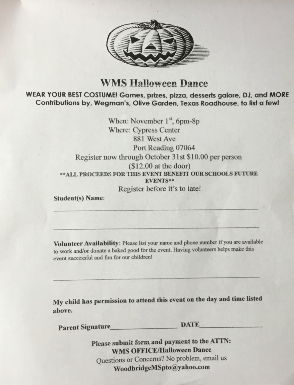 WMS Halloween Permission Slip