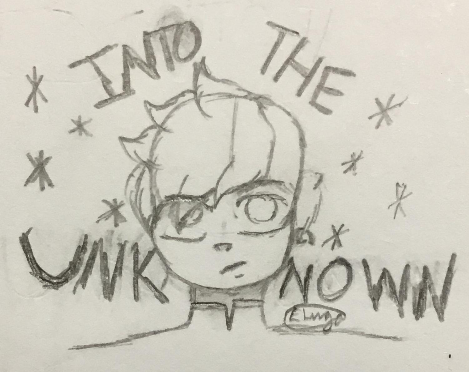 This is an image from a set of rough sketches I decided to make! It's inspired by the Frozen 2 song, Into the Unknown.
