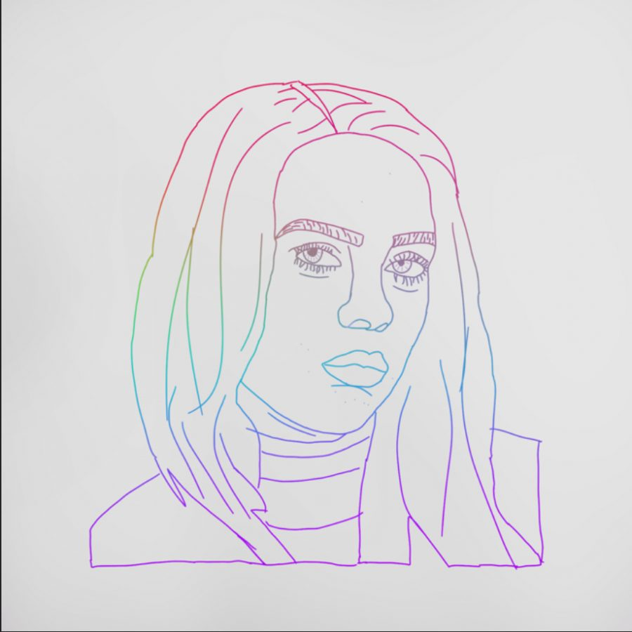Image of Billie Eilish that I drew on Sketchbook