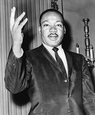 Photo labeled for non-commercial reuse via https://commons.wikimedia.org/wiki/File:Martin_Luther_King_Jr_NYWTS.jpg Under the Creative Commons Licence