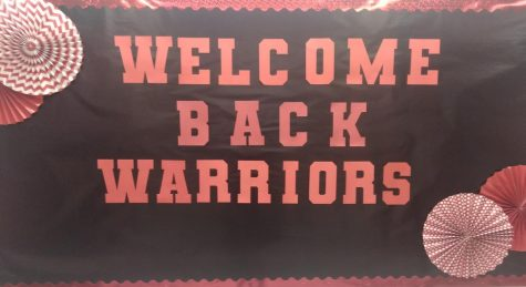 Welcome Back Warriors sign