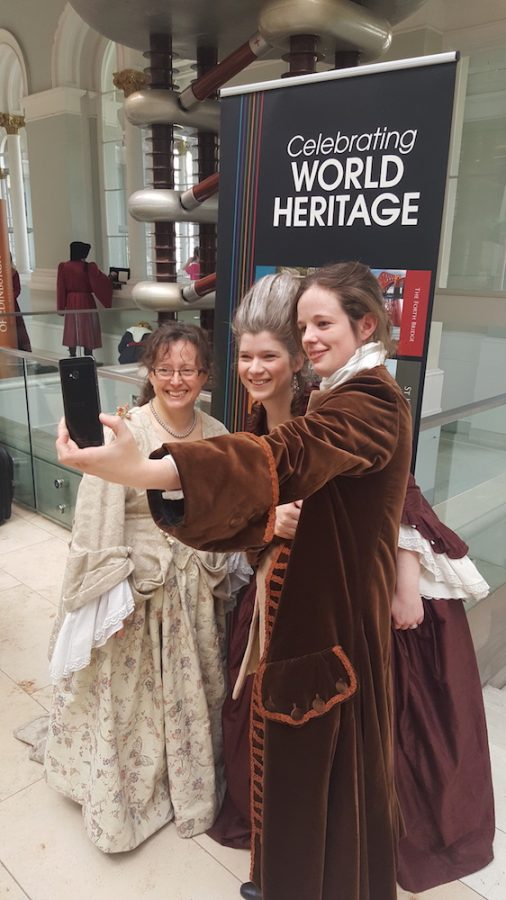 labeled for noncommercial  reuse via https://commons.wikimedia.org/wiki/File:World_Heritage_Day_2017_National_Museum_of_Scotland_Georgian-era_Selfie.jpg under Creative Commons Licence