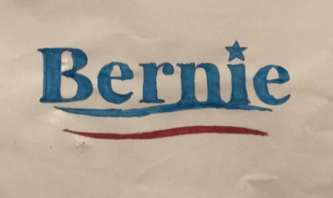 Jeffrey De Leon, a Sanders supporter, created a poster in admiration of Bernie Sanders.