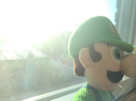 YOUR MIND IS THE MOUNTAIN BEFORE YOU: Luigi walks away, knowing that there is always a light at the end of the tunnel.