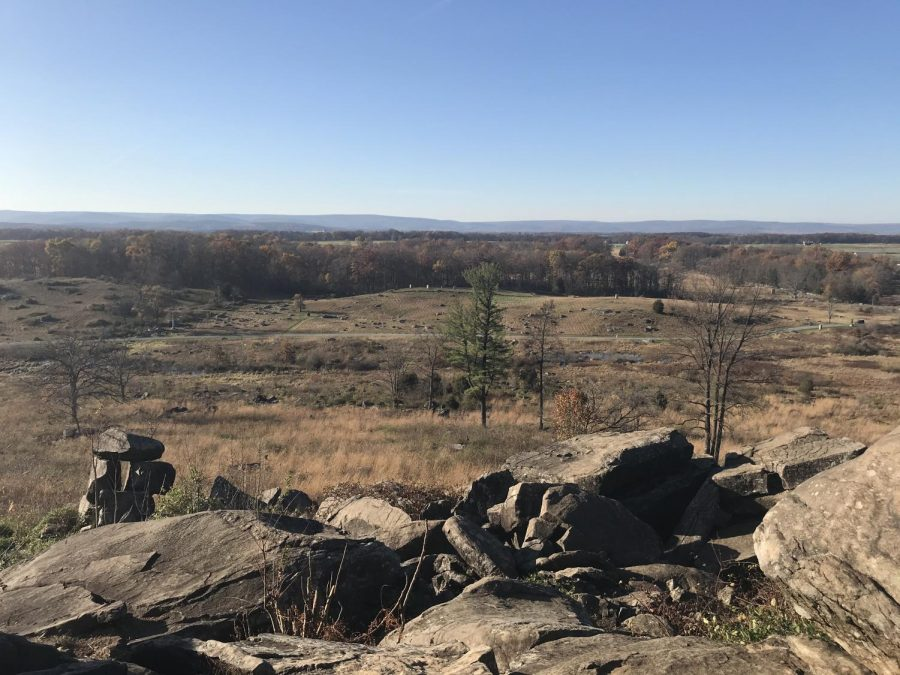 View from Little Round Top at Gettysburg National Military Park